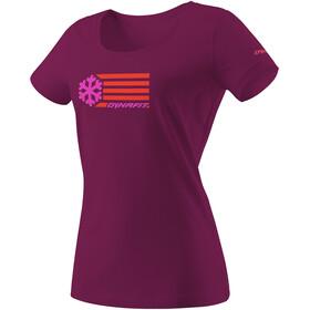 Dynafit Graphic Cotton Camiseta Manga Corta Mujer, violeta